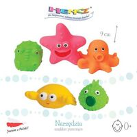 Zabawki do kąpieli, Zwierzaki morskie kubełek, Hencz Toys, zabawki gumowe do kąpieli