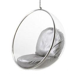 Fotel Bańska insp. BUBBLE srebrna poduszka D2