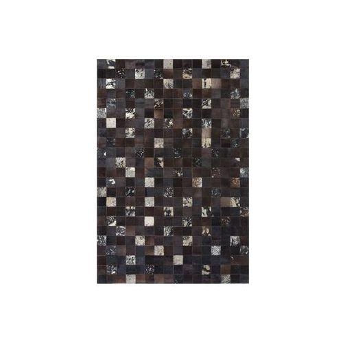 Dywany, Dywan patchwork skórzany 160 x 230 cm brązowy BANDIRMA