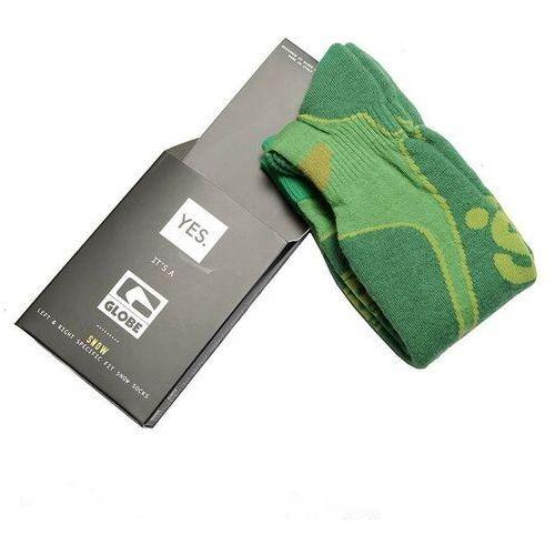 Odzież do sportów zimowych, skarpetki GLOBE - Yes/Globe Park Rat Sock Lime (LIME) rozmiar: S/M