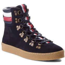Kozaki TOMMY HILFIGER - Crepe Outsole Hiking Hybrid Boot FM0FM01918 Midnight 403