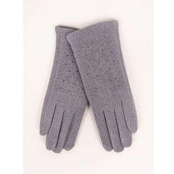 Rękawiczki kobiece szare gwiazdki z jetów 23