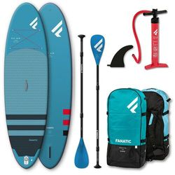 """Fanatic Fly Air Premium/Pure SUP Package 10'8"""" Inflatable SUP with Paddle and Pump 2021 Deski SUP"""