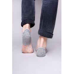 Skarpety stopki damskie transparentne siateczka w serduszka szare 36-41