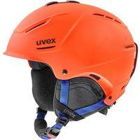 Kaski i gogle, UVEX P1Us 2.0 Kask, orange-blue mat 52-55cm 2019 Kaski narciarskie