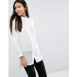 ASOS DESIGN soft shirt in sheer and solid - White
