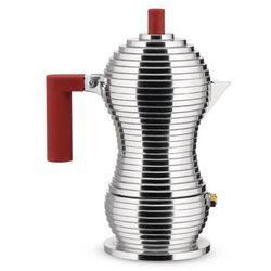 Zaparzacz do espresso Pulcina z czerwonym uchwytem 70 ml