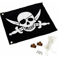 Place zabaw, Flaga pirat z systemem podnoszenia 55 x 45 cm KBT