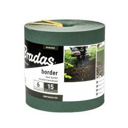 Obrzeże trawnikowe BORDER proste 6m/15cm zielone Bradas 7569