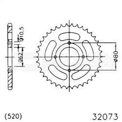 Zębatka tylna stalowa JT 50-32073-53, 53Z, rozmiar 520 2301242 Sachs Roadster 125