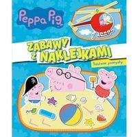 Książki dla dzieci, Świnka Peppa. Zabawy z naklejkami. Szalone pomysły (opr. broszurowa)