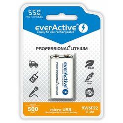 Akumulatorek 6F22 550 mAh EVERACTIVE Professional+Lithium