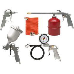 Zestaw lakierniczy, pistolet ze zbiornikiem górnym, kpl. 5szt. Vorel 81638 - ZYSKAJ RABAT 30 ZŁ