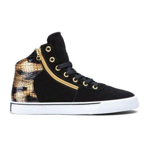 Damskie obuwie sportowe, buty SUPRA - Women-Cuttler Black/Gold (BKG) rozmiar: 36.5