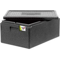 Kosze i pojemniki gastronomiczne, Pojemnik termoizolacyjny z polipropylenu GN 1/1 300 mm, czarny | THERMO FUTURE BOX, 056301