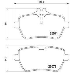 Zestaw klocków hamulcowych, hamulce tarczowe BREMBO P 50 117