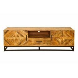 INVICTA stolik RTV INFINITY HOME 160 cm - Mango, drewno naturalne, metal
