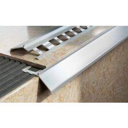 Profil aluminiowy balkonowy naturalny 34mm 2,5m - okapnik w kolorze naturalnym 10szt.