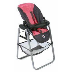 Bayer Chic krzesełko do karmienia lalki, różowo-ciemnoszary