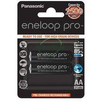 Akumulatorki, 2 x Panasonic Eneloop PRO R6/AA 2550mAh BK-3HCDE/2BE (blister)