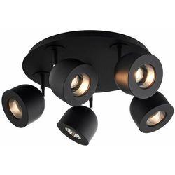 LAMPA sufitowa PILAR 50805502 Kaspa regulowana OPRAWA metalowe reflektorki czarne