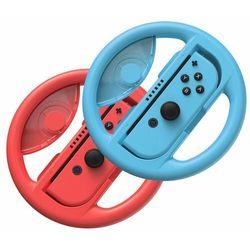 Baseus zestaw 2x kierownica do Nintendo Switch nakładka na Joy-Con joystick pad czerwony i niebieski (GMSWB-93) - Czerwono-niebieski