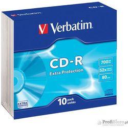 Płyty Verbatim CD-R 700MB 52x SLIM - 10 Pack