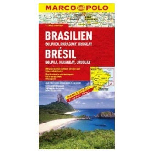 Mapy i atlasy turystyczne, Brazylia. Mapa samochodowa, składana 1:4 000 000. Marco Polo. (opr. broszurowa)