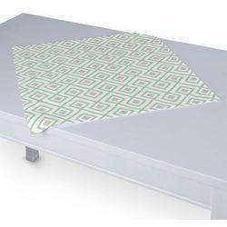 Dekoria Serweta 60x60 cm, szaro- miętowe romby na białym tle, 60 x 60 cm, Geometric