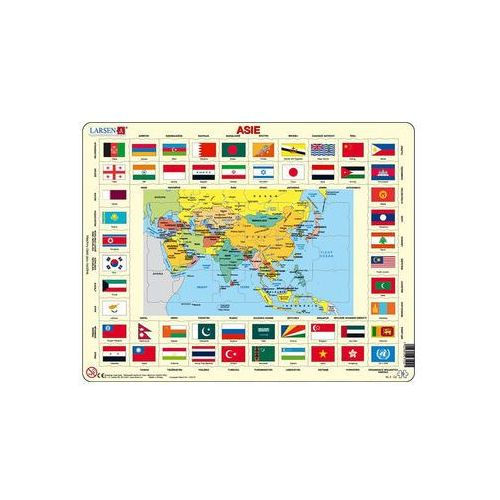 Puzzle, Puzzle MAXI - Mapa ASIE + vlajky/70 dílků neuveden