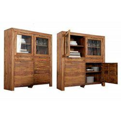INVICTA kredens wysoki LAGOS 140 cm - sheesham, drewno naturalne