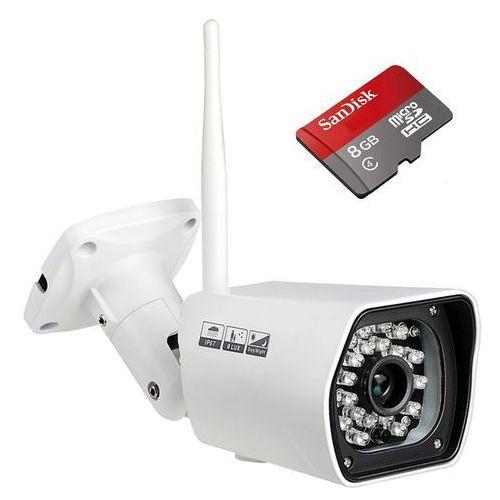Kamery monitoringowe, KAMERA IP WIFI FULLHD 1080P + Karta microSD 8GB