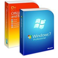 Systemy operacyjne, Windows 7 Professional + Office 2010 Home and Business, licencje elektroniczne 32/64 bit