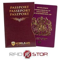 ✅ Etui z Ochroną Paszportu BIometrycznego RFID (Brązowy) Koruma - Kasztan