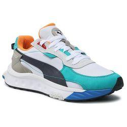 Sneakersy PUMA - Wild Rider Layers 380697 02 Puma White/Viridian Green