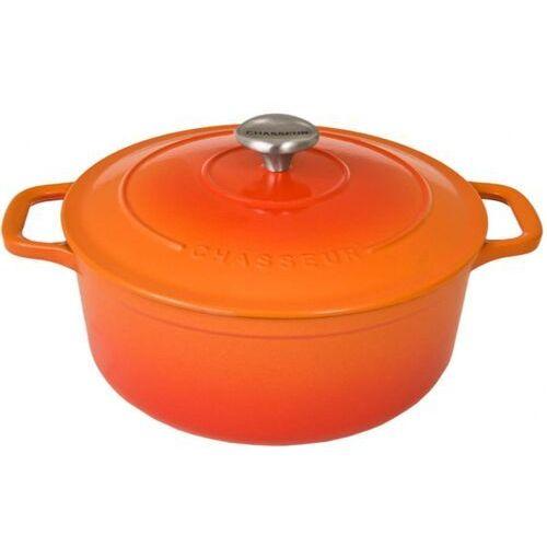 Garnki, Chasseur Classic Sublime Garnek Żeliwny Okrągły 20cm Czerwona Pomarańcza