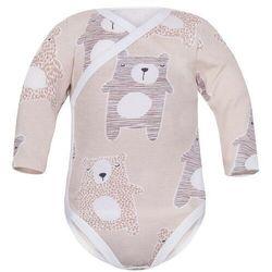 Body kopertowe niemowlęce z długim rękawem Beżowe Koala - Dolce Sonno
