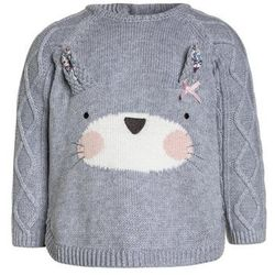 mothercare TRUE RABBIT NOVELTY FACE JUMPER BABY Sweter grey