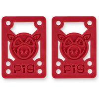Pozostały skating, części zamienne PIG WHEELS - Pileses 1/8in Hard Riser Red (MULTI) rozmiar: 1/8