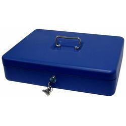 Kasetka na pieniądze Metalplus 2153/5AS_BLUE, bardzo duża, niebieska