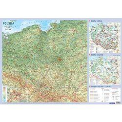Mapa Polski Plansza edukacyjna na ścianę i biurko - książka