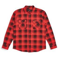 koszula BRIXTON - Bowery Lw L/S Flannel Red/Black (RDBLK) rozmiar: XXL