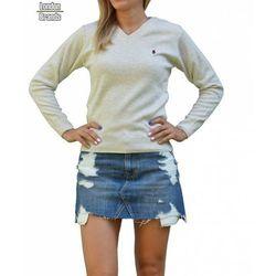 Sweter v-neck Ralph Lauren beż