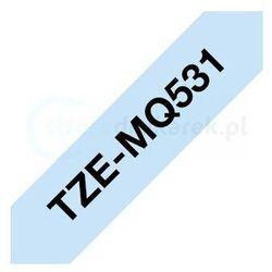 Oryginalna taśma Brother TZe-MQ531 12mm x 4m niebieska/czarny nadruk