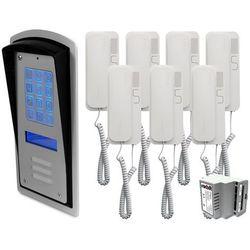 Zestaw 7-rodzinny panel domofonowy wielorodzinny z szyfratorem RADBIT BRC10 MOD
