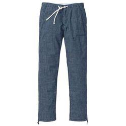 Spodnie dresowe melanżowe bonprix pastelowy jasnoróżowy - antracytowy melanż