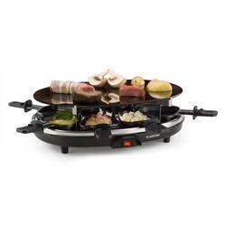 Klarstein Blackjack grill raclette 8 osób szkło ceramiczne stal nierdzewna czarny