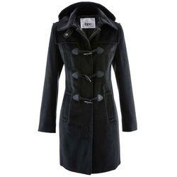 Płaszcz z kapturem bonprix czarny