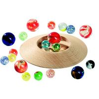 Pozostałe zabawki edukacyjne, Szklane kulki z talerzem do gry GOKI-63947