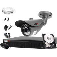 Zestawy monitoringowe, Zestaw do monitoringu do domu: Rejestrator LV-XVR44SE, 1x Kamera LV-AL20MT, 500GB, akcesoria